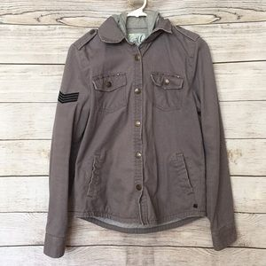 O'Neill Military Themed Snap Up Jacket Men's Small